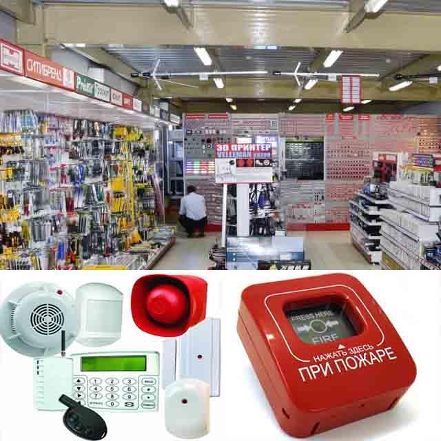 Монтаж пожарной сигнализации в магазине