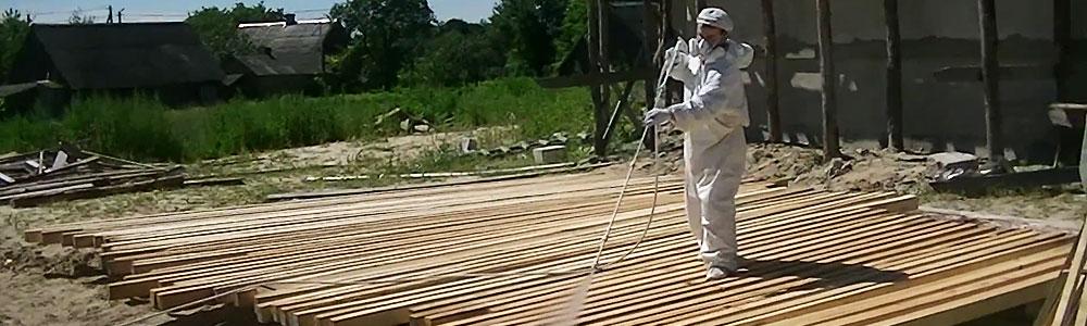 Огнезащита конструкций из дерева